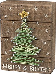 Amazon.com: Primitives by Kathy String Art - Merry and Bright: Home & Kitchen
