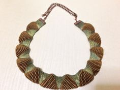 Peyote beaded collar necklace.