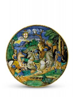 GRANDE PIATTO  - URBINO, LUCA BALDI PER IL SERVIZIO DEL CARDINALE ROBERTO DE [...], Important Renaissance Maiolica (Firenze)