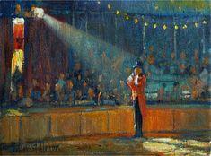Circus paintings by Artist John Stillman