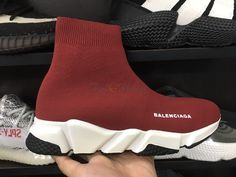 Giày Thể Thao Balenciaga Speed Trainer Red Bordeaux 2019 Balenciaga Speed Trainer, Bordeaux, Trainers, Red, Tennis, Bordeaux Wine, Athletic Shoes, Sweat Pants, Sneaker