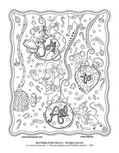 mary engelbreit coloring pages free Google Search Christmas