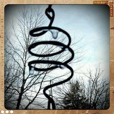 Swirly frozen rain chain