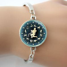 Aquarius Zodiac Bracelets Charm bangles