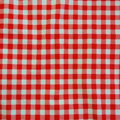 Basic Prints - Gingham - Red/White | Solid Stone Fabrics