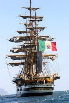 Amerigo Vespucci, school ship of the Italian Navy (1931) | Amerigo Vespucci Abbigliamento in via B. Marcello 2 a Modena #abbigliamento #moda #uomo #donna #amerigovespucci #modena