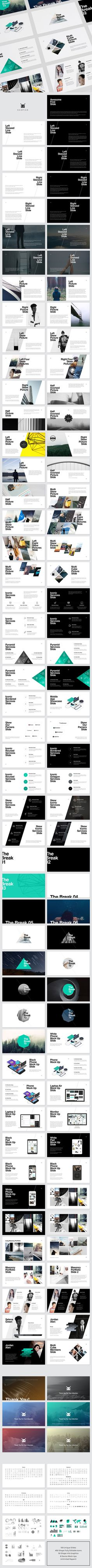 KASPIAN PowerPoint Presentation Template #slides #design Download…