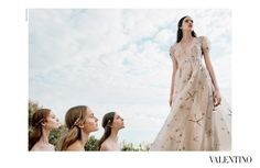 vanessa, hedvig, maartje, grace and clementine by michal pudelka for VALENTINO spring / summer 2015