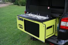 Image result for cooker in boot of t5 camper
