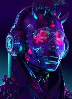 Artstation - fm (f*cking music), sick cyberpunk aesthetic, modern Cyberpunk Kunst, Cyberpunk 2020, Cyberpunk Fashion, Cyberpunk Aesthetic, Neon Aesthetic, Character Art, Character Design, Arte Alien, Leder Outfits
