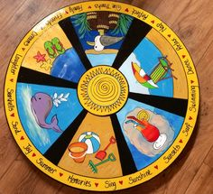 Custom Lazy Susan designed and hand painted by paintingbymichele