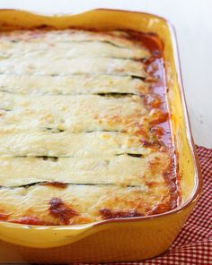 Zucchini Lasagna.--low carb and gluten-free. I thought this recipe was really good. Instead of a pound of ground beef, I included a half pound ground beef and a half pound sweet Italian sausage.