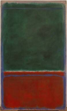 Mark Rothko, Green and Maroon (oil on canvas), 1953. The Phillips Collection, Washington, DC.