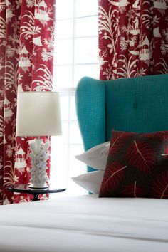 one of my faves, red & turquoise