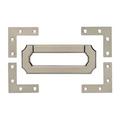 Liberty 3 in. Vintage Style Satin Nickel Campaign Hardware Set with Corner-CHS001-SN-R - The Home Depot