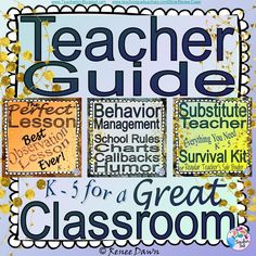 The Teacher Guide for a Great Classroom will help you to be CALM and CONFIDENT in your classroom—with teacher scripts, lessons, posters, printables, tips, behavior management resources and materials you will use all year. Bonus: Behavior Management Math counting songs for calming kids and Rap Your Math MP3 for energizing kids.