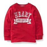 Your little heart breaker guy will love this Valentine's Day tee. Easy to wear jersey make his hugs even better!