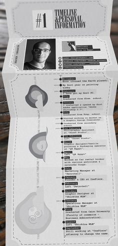 INFO-GRAPHICS RESUME by Nader Ibrahim, via Behance