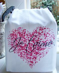 Valentine's Day French I love you Je T'aime by SweetBohemianLife