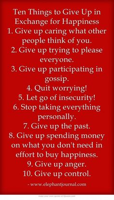 Great tips for happiness