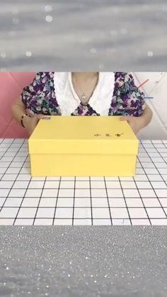 Diy Home Crafts, Craft Stick Crafts, Cardboard Box Crafts, Paper Crafts, Diy Org, Diy Storage Boxes, Diy Cans, Paper Flowers Craft, Diy For Kids