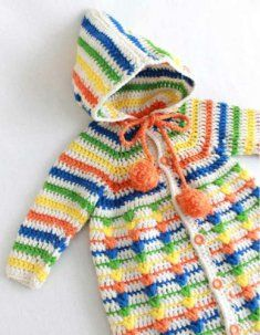 Puff Stitch Baby Bunting Crochet Pattern [PA784] - $3.99 : Maggie Weldon, Free Crochet Patterns