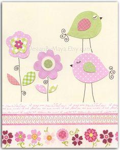 cartão passarinhos