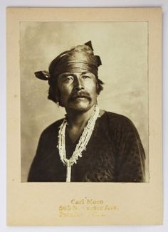 Unframed vintage silver print mounted to the artist's mount, ''Vicenti, Maney Years Chief of all the Navajos,'' 1903, by Carl Moon (American, 1879-1948)