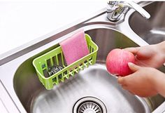 LIU-Kitchen sink drain basket rack Dish drain filter sponge pond wall hanging storage basket Organize storage rack -- Awesome products selected by Anna Churchill