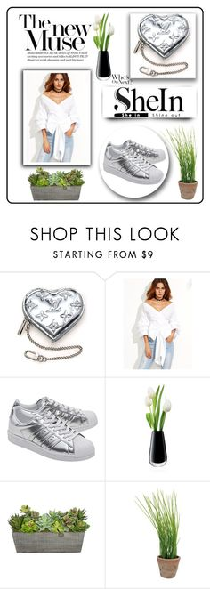 """""""Sheinside Contest"""" by aysee-112 ❤ liked on Polyvore featuring Louis Vuitton, WithChic, adidas Originals, LSA International and Esschert Design"""
