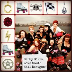 Roller Derby Girls - you need a locket!! Artist 4724  #locket  #derby Ask me how at janice.palumbos@yahoo.com