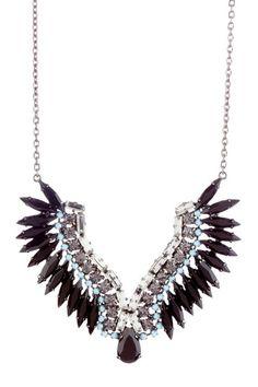 Rhinestone Wings Necklace (JLC Bijoux) Awesome statement necklace!
