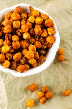 Spicy Roasted Cajun Chickpeas. I absolutely love roasted chickpeas! Can't wait to try this version.