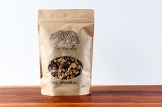 granola | kraft window stand up pouch | kraft paper packaging | curated by Copious Bags™