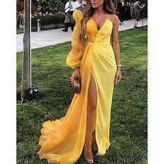 Evening Dresses Online, Cheap Evening Dresses, Cheap Prom Dresses, Yellow Evening Dresses, Formal Dresses, Sparkly Dresses, Dresses Dresses, Quinceanera Dresses, Casual Dresses