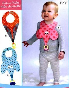 Binkie Bibs! Bib  Pattern by Vanilla House Designs at Creative Quilt Kits