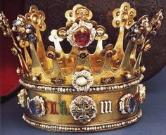 The crown of Princess Margaret of York - sister of Edward IV and wife of Charles the Bold, Duke of Burgundy. Made in c. 1461 this is one of only two English crowns from the medieval period that survive intact.