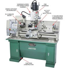 X Combination Gunsmithing Lathe/Mill Led Work Light, Work Lights, Jaws 4, Torque Wrench, Mount System, Lathe Tools, Thing 1, Milling, Play Houses