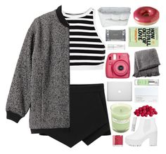 """""""falling for you"""" by knightnightingale ❤ liked on Polyvore featuring мода, T By Alexander Wang, Monki, A.P.C., From the Road, She's So, Frette, Dermalogica, NARS Cosmetics и Gatineau"""