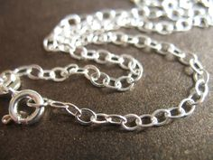 "Shop Sale..925 Sterling Silver Chain, Finished Bracelet Chain, Flat Cable, 1 pc, 3.5x2.5 mm, 7.5"" inch, medium b44.75 .done  solo..hp. $3.75, via Etsy."