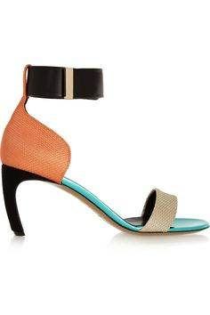 Nicholas KirkwoodColor-block woven, suede and leather sandals