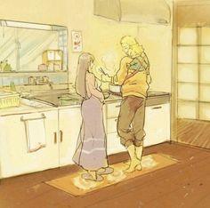 """Kanpekina. """"Hinata você deveria ir descansar."""" """"É capaz de você botar fogo na casa, você tá cansado Naruto, quem deveria descansar era você."""" """"Mas Hina..."""" """"Nada de mais, deixe-me cuidar da cozinha e você pode ir brincar com o Boruto."""" Hinata Hyuga, Naruhina, Naruto And Hinata, Naruto Cute, Kakashi Hatake, Anime Naruto, Naruto Shippuden, Sasuke, Clan Uzumaki"""