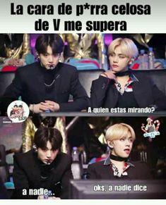 65 Ideas memes en espanol risa bts for 2019 Vkook Memes, Blackpink Memes, New Memes, Funny Memes, Yoonmin, Taekook, Foto Bts, Bts Photo, Bts Taehyung