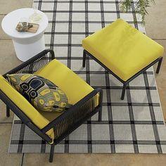 Morocco Lounge Chair with Sunbrella ® Sulfur Cushion - Sulfur   Crate and Barrel