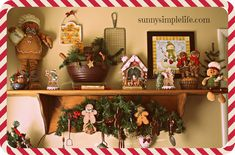 Christmas Kitchen Tour 2014 - Christmas Home Tour Part Two Christmas Gingerbread Men, Cozy Christmas, Christmas 2014, Vintage Christmas, Christmas Kitchen, Christmas Baking, Diy Holiday Gifts, Diy For Men, Xmas Decorations