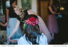 Beautiful head piece   Photographer: DNA Photographers   Flowers : Anli Wahl   Hair & Make Up: Iza Cloete