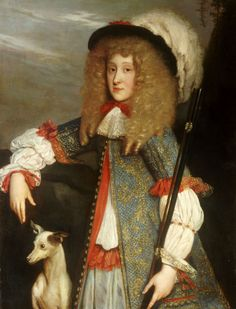 Portrait of A young gentleman in hunting attire by Louis Ferdinand Elle,c. 1660s-70s