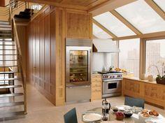 Moderner Kühlschrank mit Glastür - 25 Ideen für ein transparentes brilliantes Haus    - #Küche