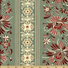 Amazon.com: La Belle Fleur Cotton Fabric - Verde 13638-13: Arts, Crafts & Sewing