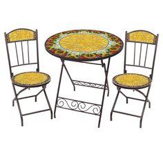 3 Piece Sunflower Burst Outdoor Bistro Set at Joss & Main